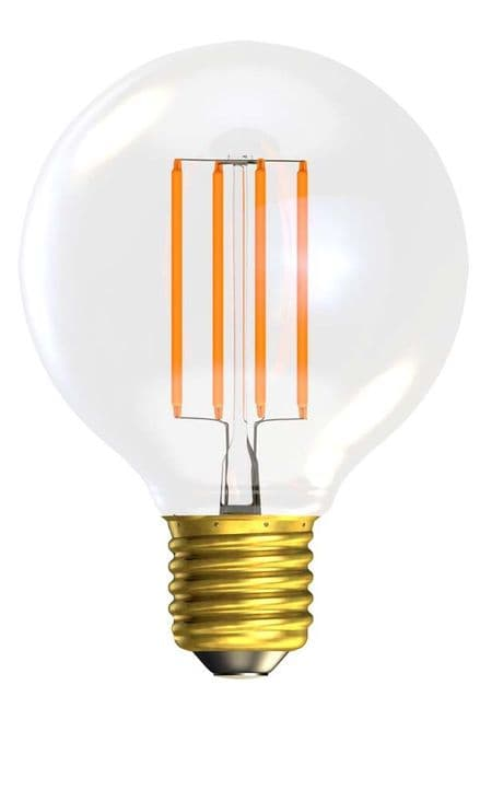 BELL 60137 4W LED Filament Globe Clear Dimmable ES 2700K